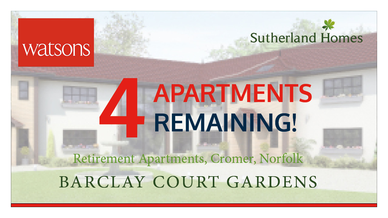Barclay Court Gardens, Cromer – Only 4 Remaining!