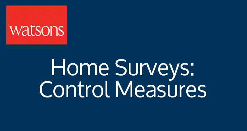 Home Surveys: Control Measures