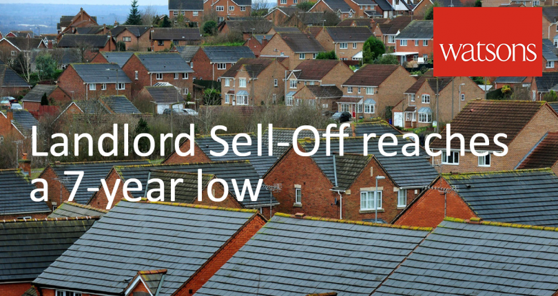 Landlord Sell-Off slows to 7 Year Low